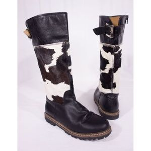 Ammann Bern Cowhide Leather Boots 40 US 9 Cowgirl